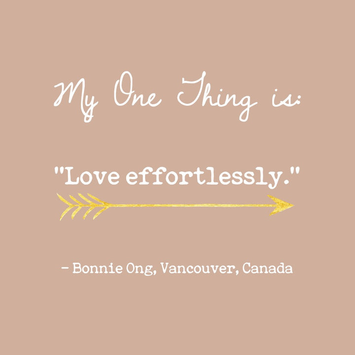 Bonnie Ong's One Thing