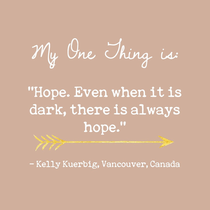 Kelly Kuerbig's One Thing