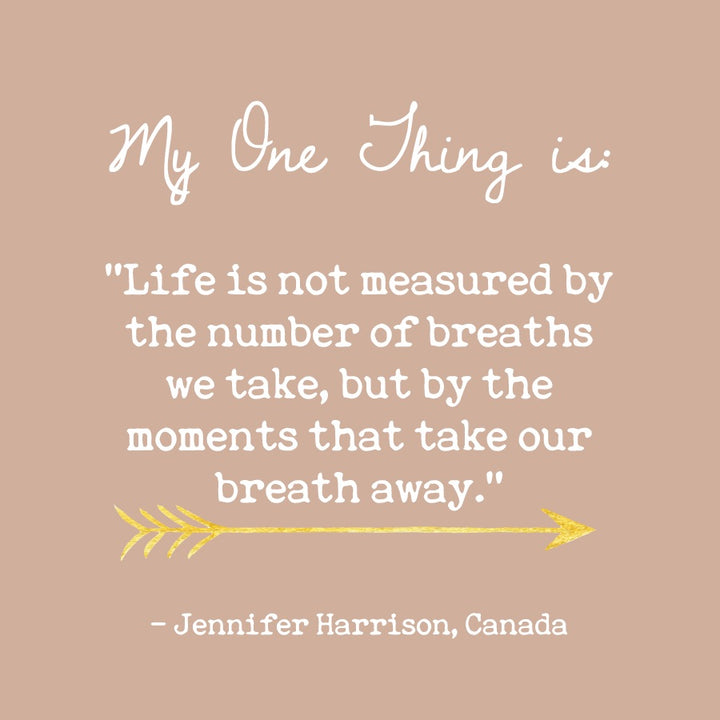 Jennifer Harrison's One Thing