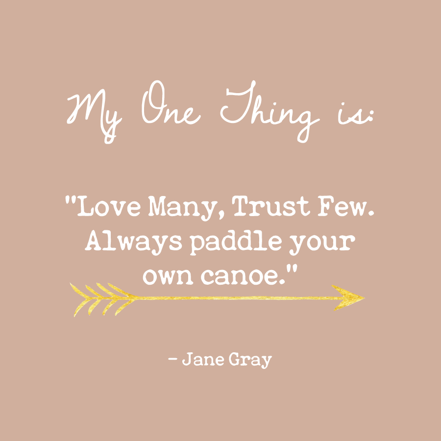 Jane Gray's One Thing