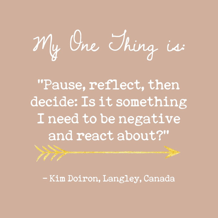 Kim Doiron's One Thing