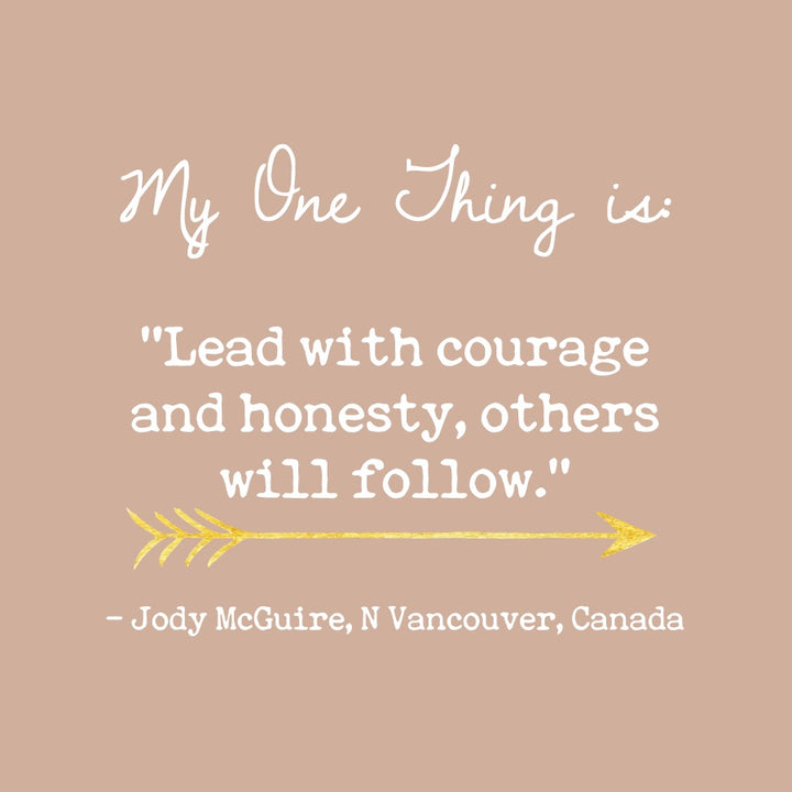 Jody McGuire's One Thing