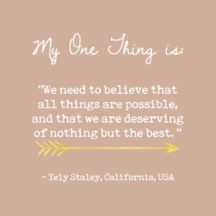 Yely Staley's One Thing