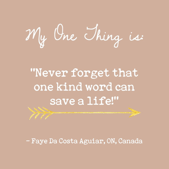 Faya Da Costa Aguiar's One Thing