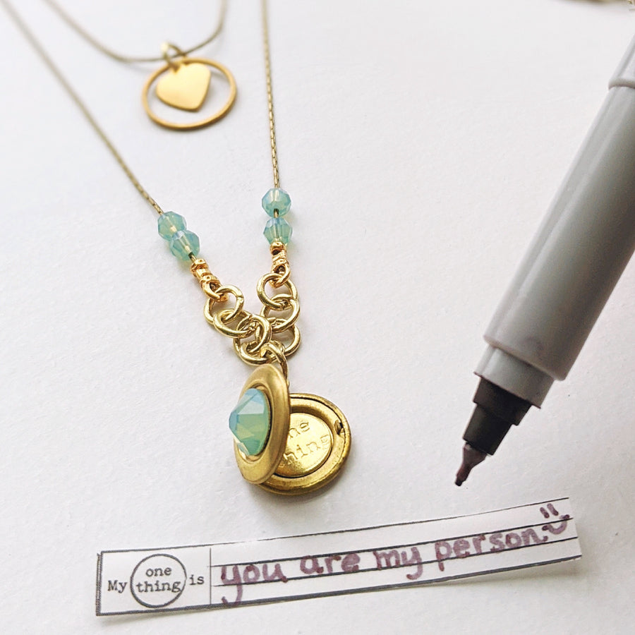 """BABY DOLL"" 2-STRAND LAYERED LOCKET NECKLACE - One Thing Lockets 