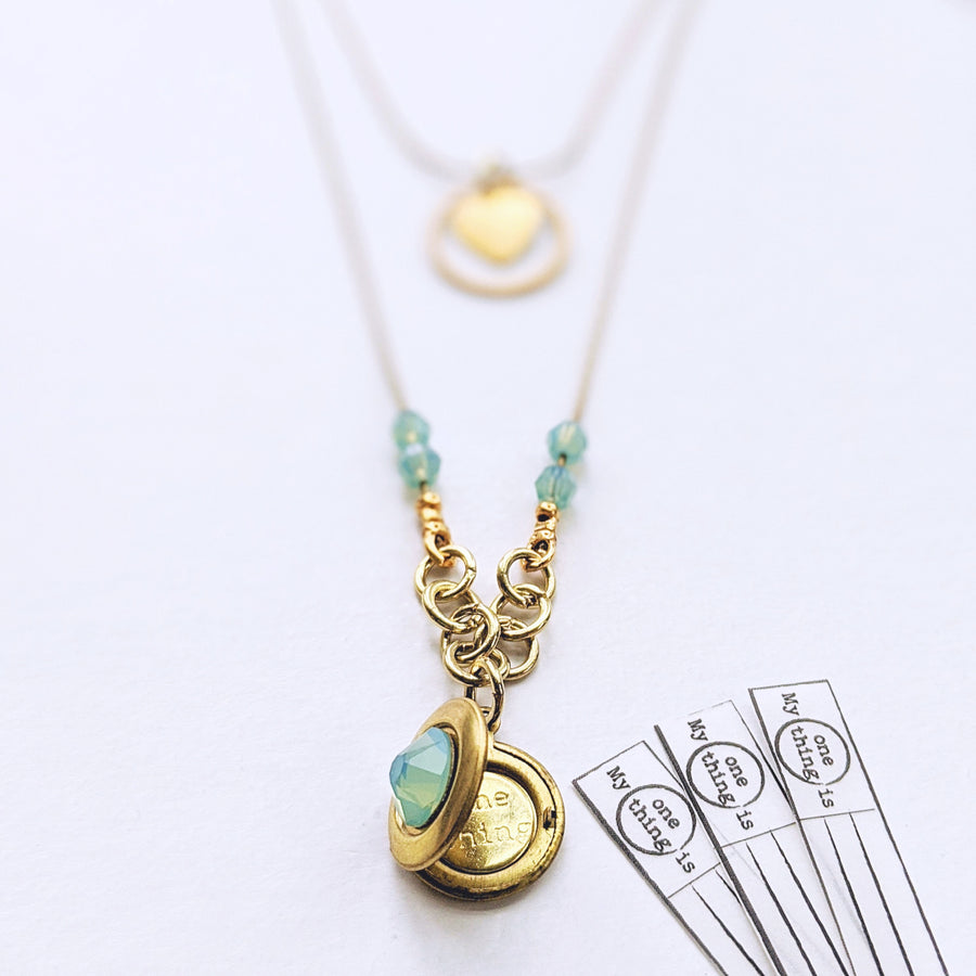 """BABY DOLL"" 2-STRAND LAYERED LOCKET NECKLACE - One Thing Lockets"
