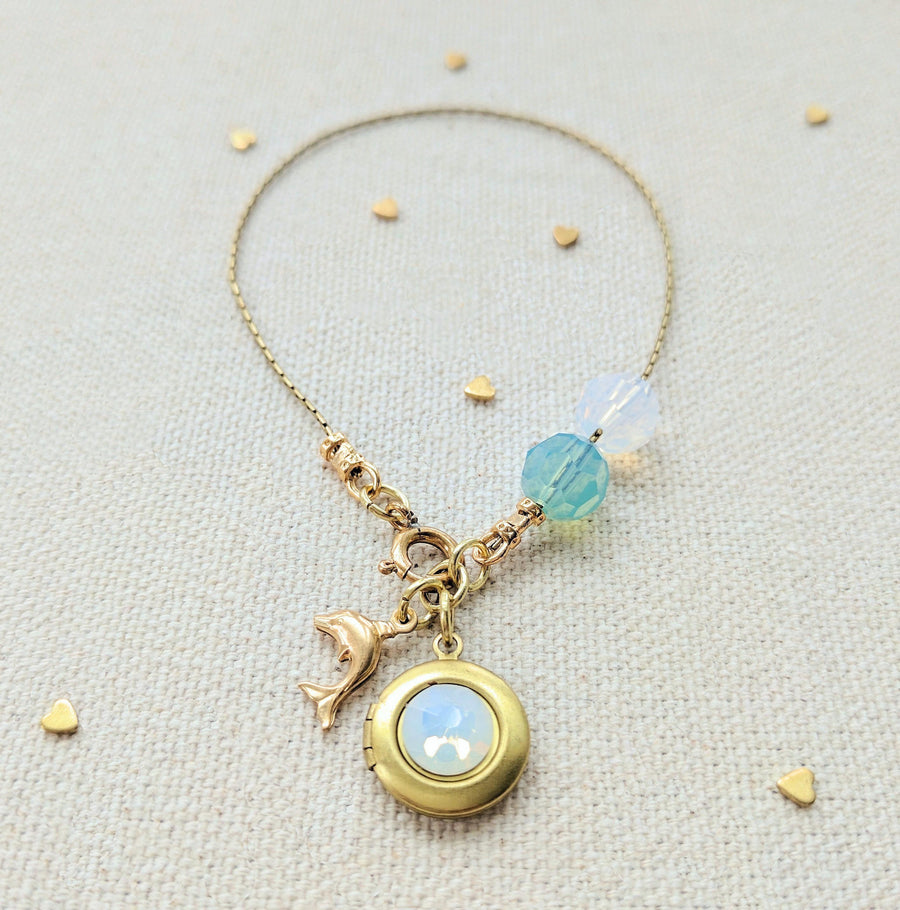 "KIDS! - ""DOLPHIN LOVE"" LOCKET BRACELET - One Thing Lockets 