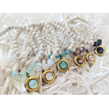YOU CHOOSE THE SET & SAVE! SWAROVSKI & WHITE WOOD LOCKET BRACELET SETS - One Thing Lockets | Empowering People With Their Own Message