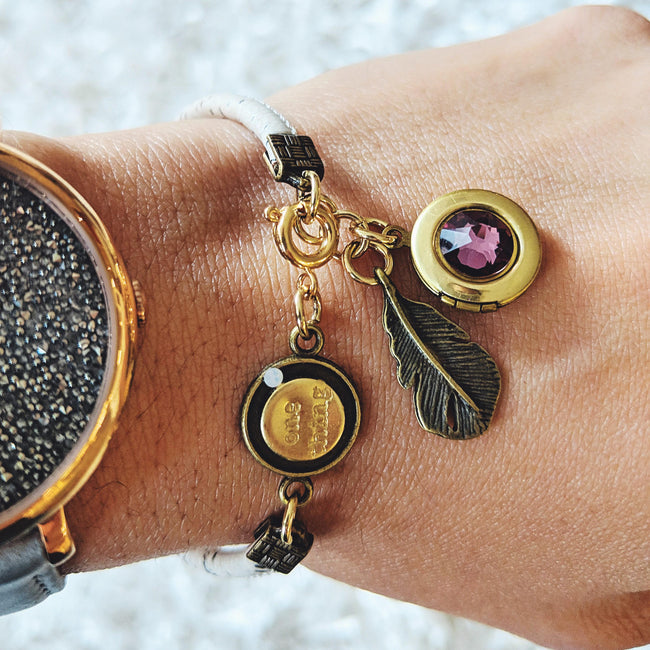 SAMPLE SALE! - INDIAN SUMMER LOCKET BRACELET ON CORK (VEGAN) - One Thing Lockets | Empowering People With Their Own Message