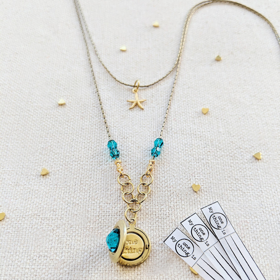 """FRENCH POLYNESIA"" LAYERED LOCKET NECKLACE - One Thing Lockets 