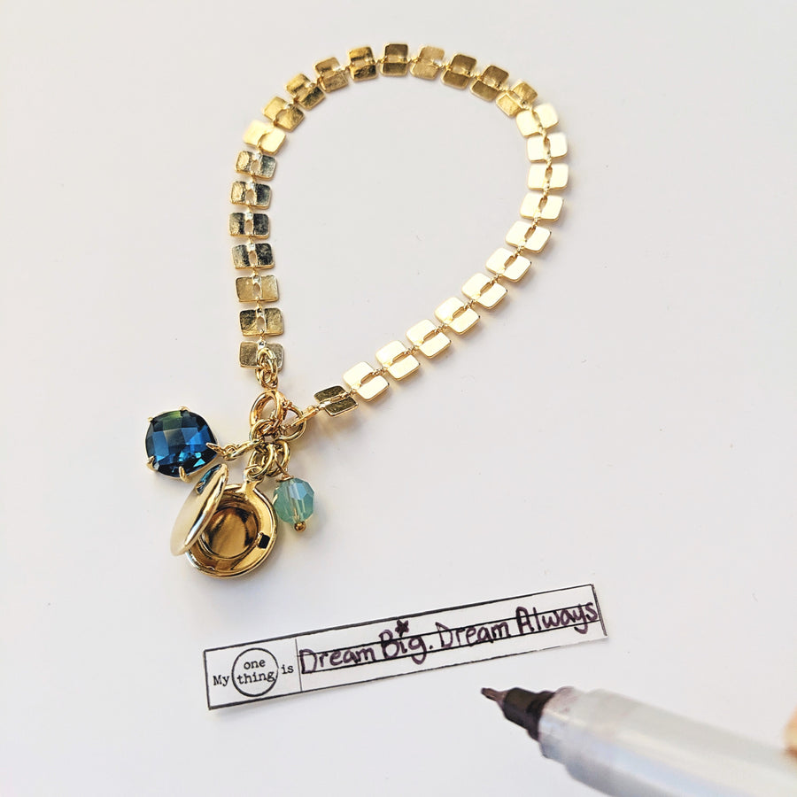NEW! - LONDON BLUE GATSBY GLAM LOCKET BRACELET