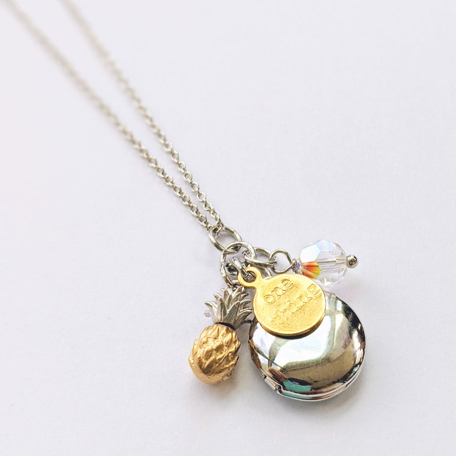"""LOVE & ALOHA"" SILVER LOCKET NECKLACE - One Thing Lockets"