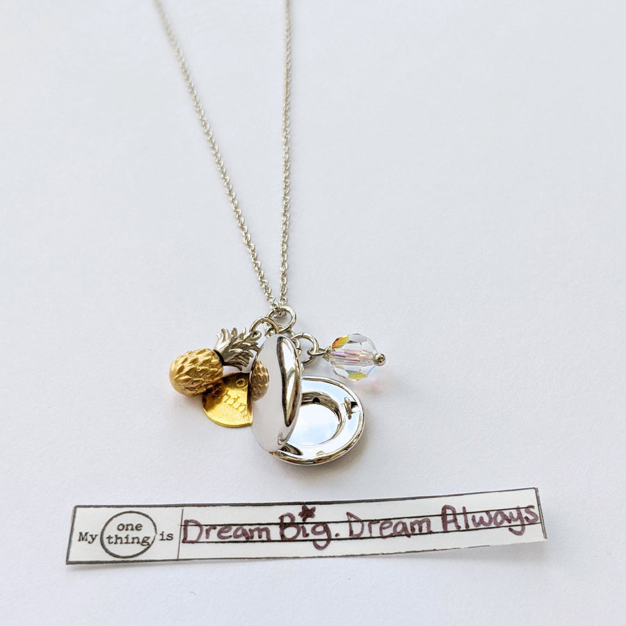 """LOVE & ALOHA"" SILVER LOCKET NECKLACE - One Thing Lockets 