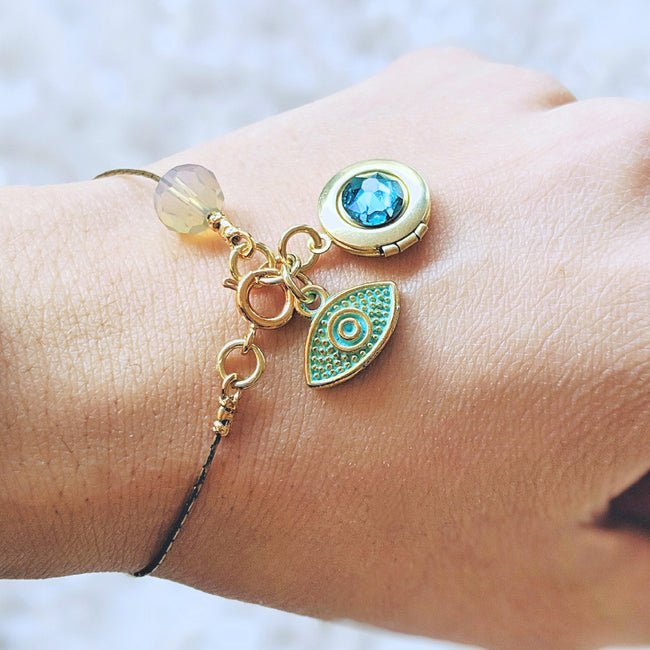"KIDS! - ""MAJESTIC EYE"" (EVIL EYE) LOCKET BRACELET - One Thing Lockets 