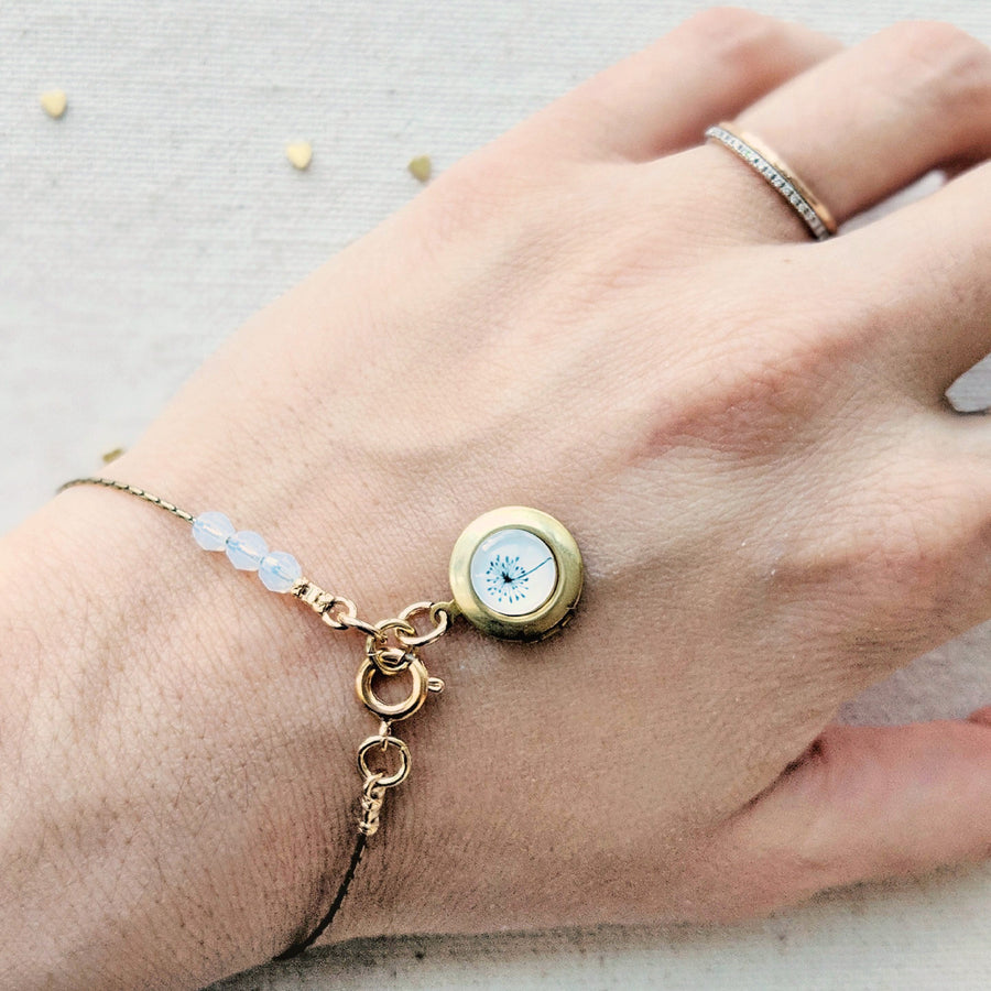 MAKE A WISH DANDELION LOCKET BRACELET - One Thing Lockets | Empowering People With Their Own Message