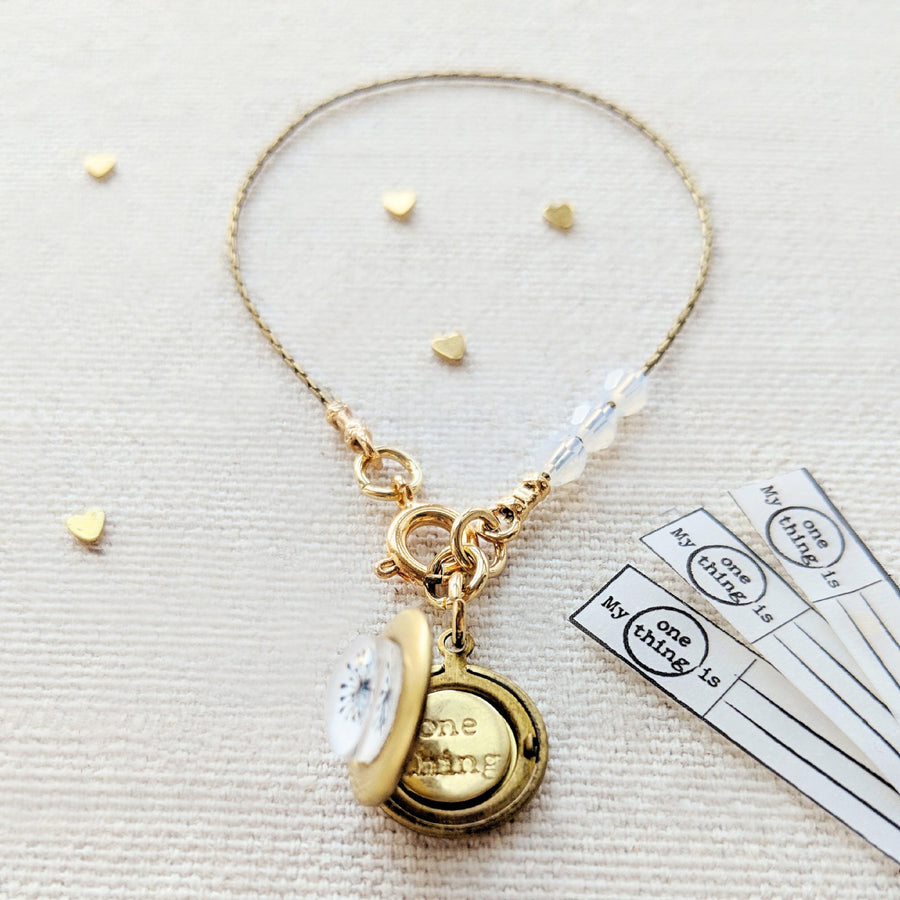 """MAKE A WISH"" DANDELION LOCKET BRACELET - One Thing Lockets 