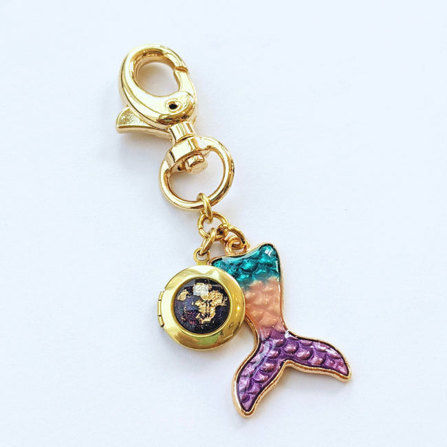 """MERMAID TALES"" LOCKET KEYCHAIN/PURSE CLIP - One Thing Lockets 