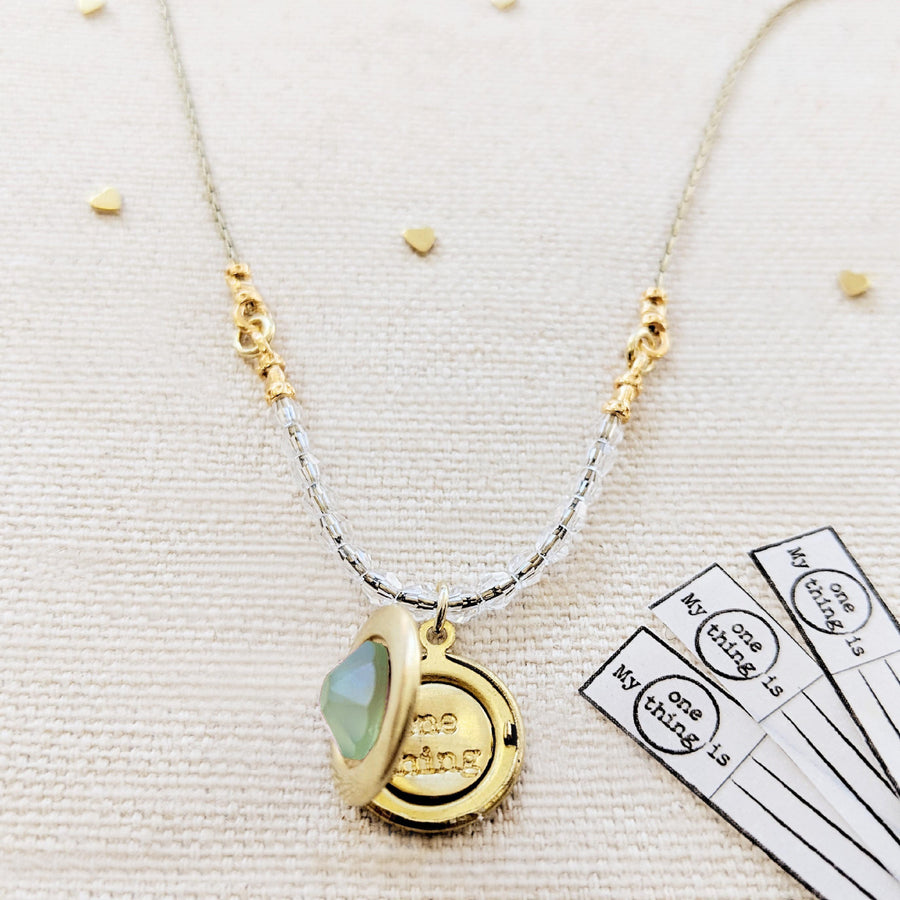 SWAROVKSI MERMAID PRINCESS LOCKET NECKLACE - One Thing Lockets | Empowering People With Their Own Message