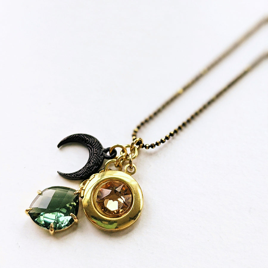 """MYLEA'S MOON"" LOCKET NECKLACE - One Thing Lockets 