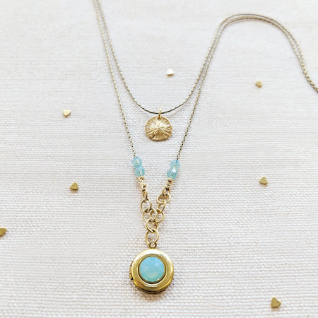 PACIFIC SHORES LOCKET NECKLACE - One Thing Lockets | Empowering People With Their Own Message
