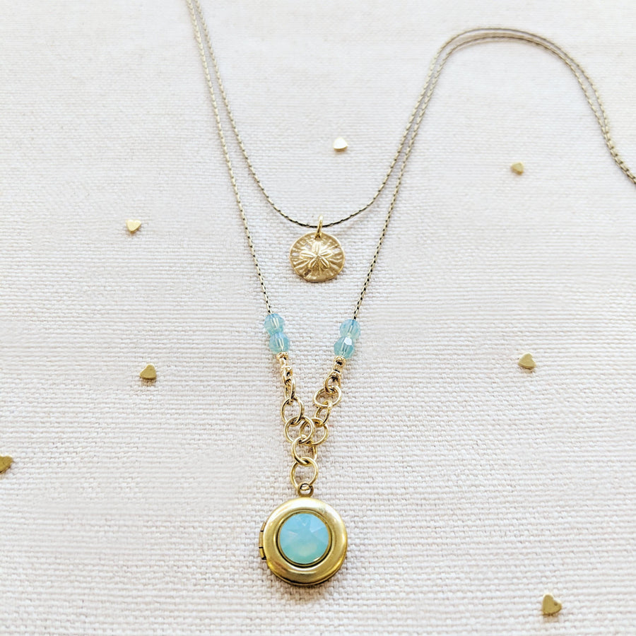 PACIFIC SHORES LAYERED LOCKET NECKLACE - One Thing Lockets | Empowering People With Their Own Message