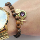 PERSONALIZABLE DRAGONFLY WOOD BEAD LOCKET BRACELET - One Thing Lockets | Empowering People With Their Own Message