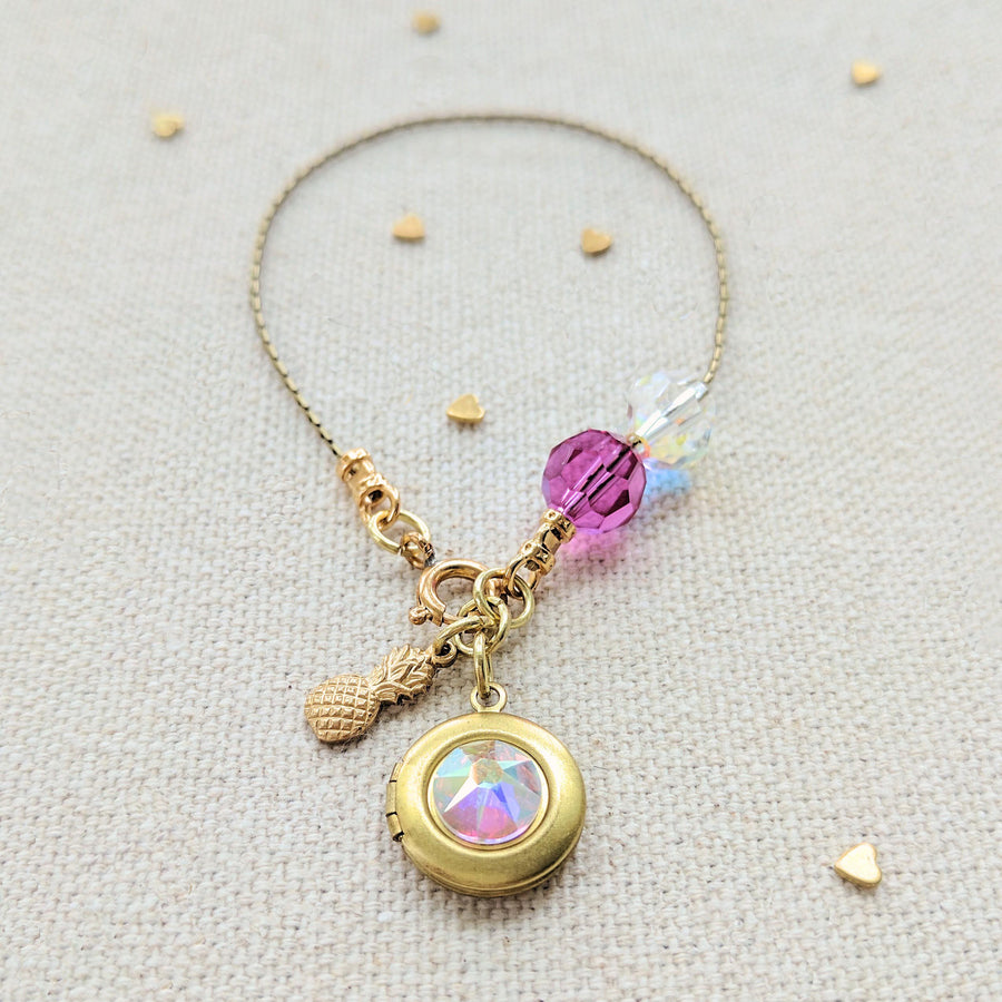 "KIDS! - ""PINEAPPLE DREAMS"" LOCKET BRACELET - One Thing Lockets 