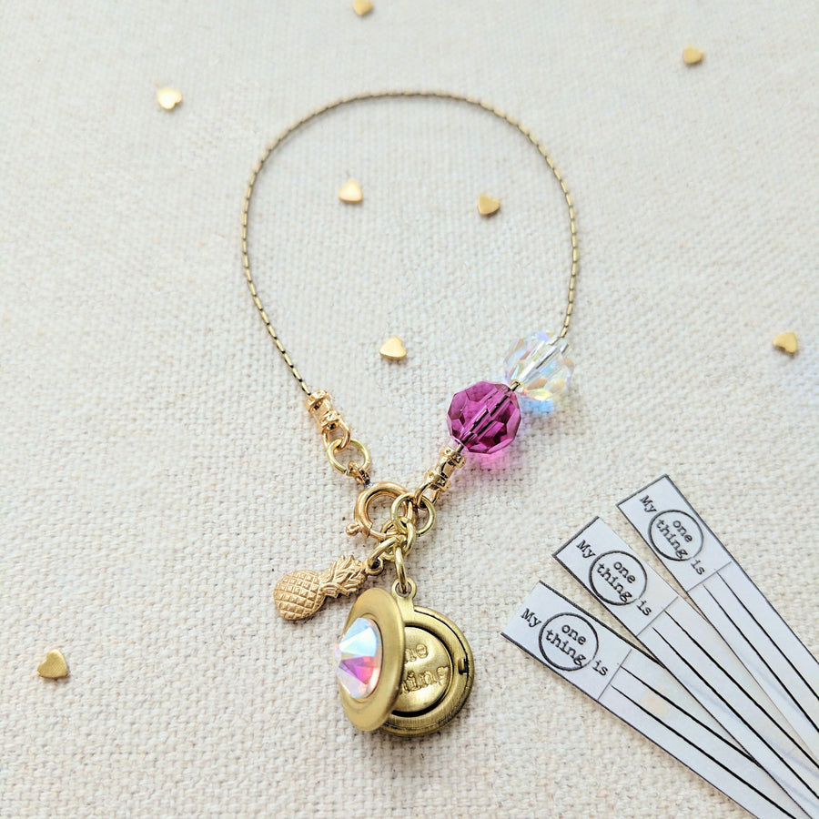 "KIDS! - ""PINEAPPLE DREAMS"" LOCKET BRACELET - One Thing Lockets"