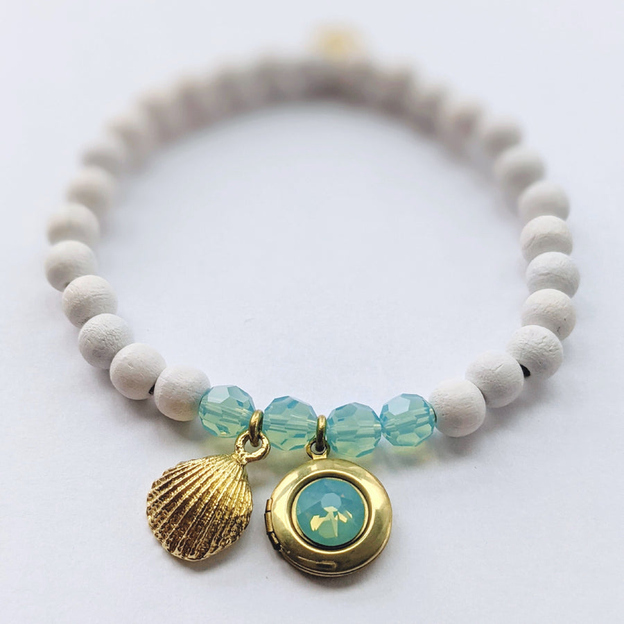 """LOST IN SEYCHELLES"" - ""Make Your Own"" LOCKET BRACELET KIT - One Thing Lockets 