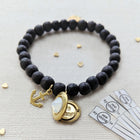 STAY ANCHORED WOOD BEAD LOCKET BRACELET - One Thing Lockets | Empowering People With Their Own Message