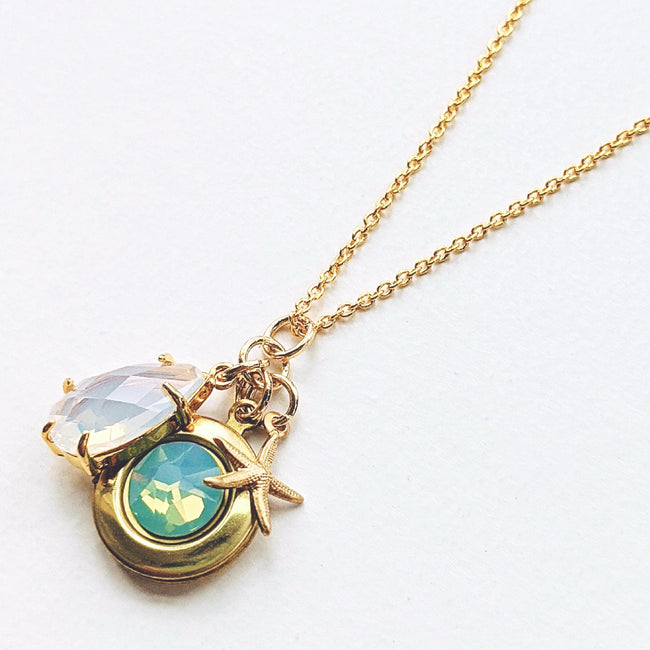 """TAKE ME AWAY"" GLAM SWAROVSKI LOCKET NECKLACE - One Thing Lockets 
