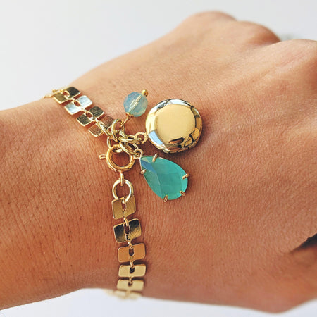 NEW! - TURQUOISE GATSBY GLAM LOCKET BRACELET