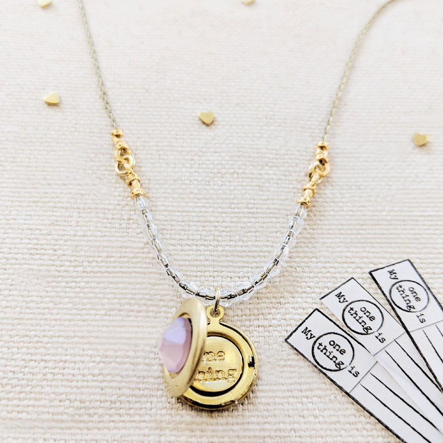 SWAROVKSI UNICORN DREAMS LOCKET NECKLACE - One Thing Lockets | Empowering People With Their Own Message