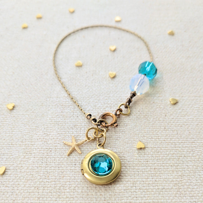 ZOEY'S DREAM LOCKET BRACELET - 50% of profits donated to ocean conservation! - One Thing Lockets | Empowering People With Their Own Message