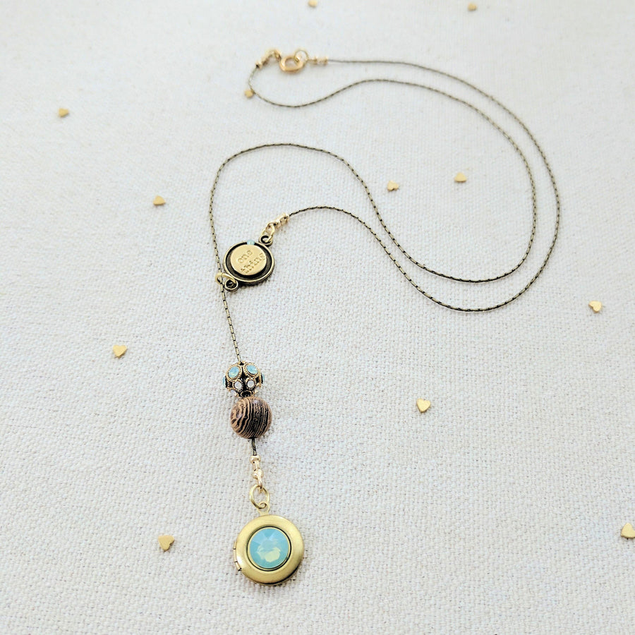 SEA GLASS LOCKET NECKLACE - One Thing Lockets | Empowering People With Their Own Message