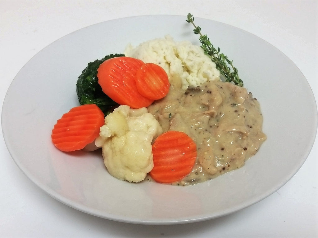 Mushroom Dijon Chicken, Mashed Potatoes & Chef's Vegetables