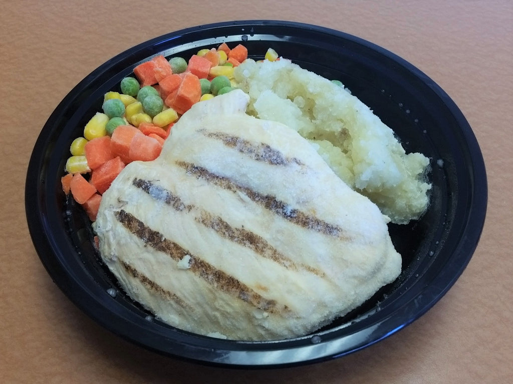Grilled Chicken Breast, Mashed Potatoes & Vegetables