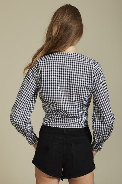 Wrap me up Top Gingham