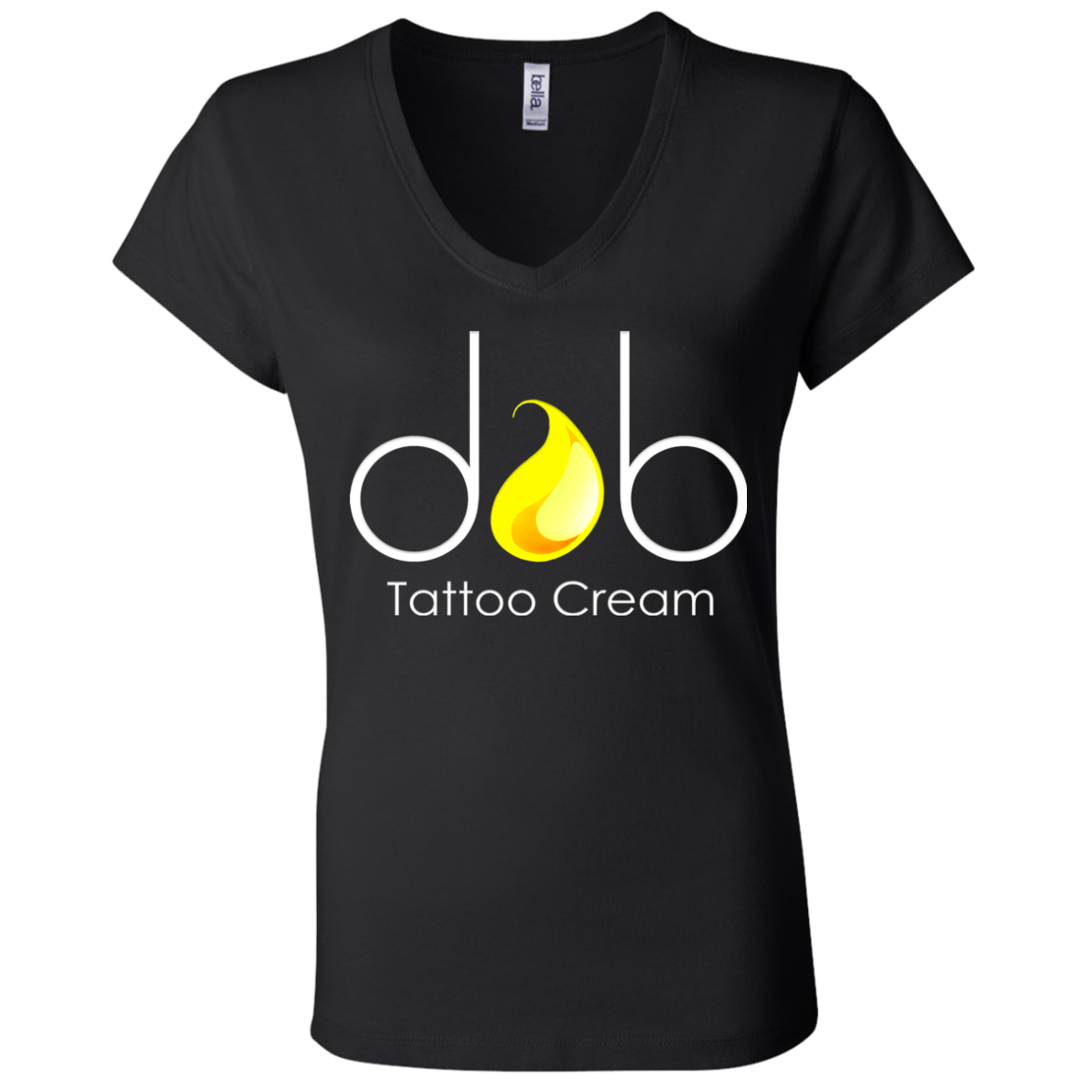 Dab Tattoo Cream Logo Ladies V-neck
