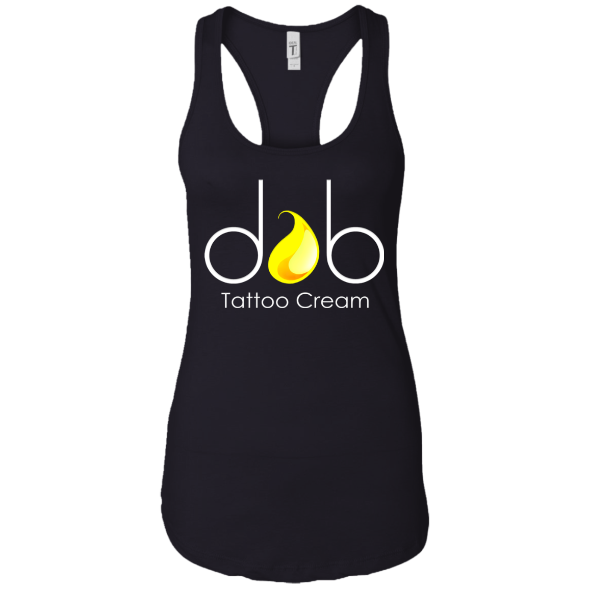 Dab Tattoo Cream Logo Ladies Racerback
