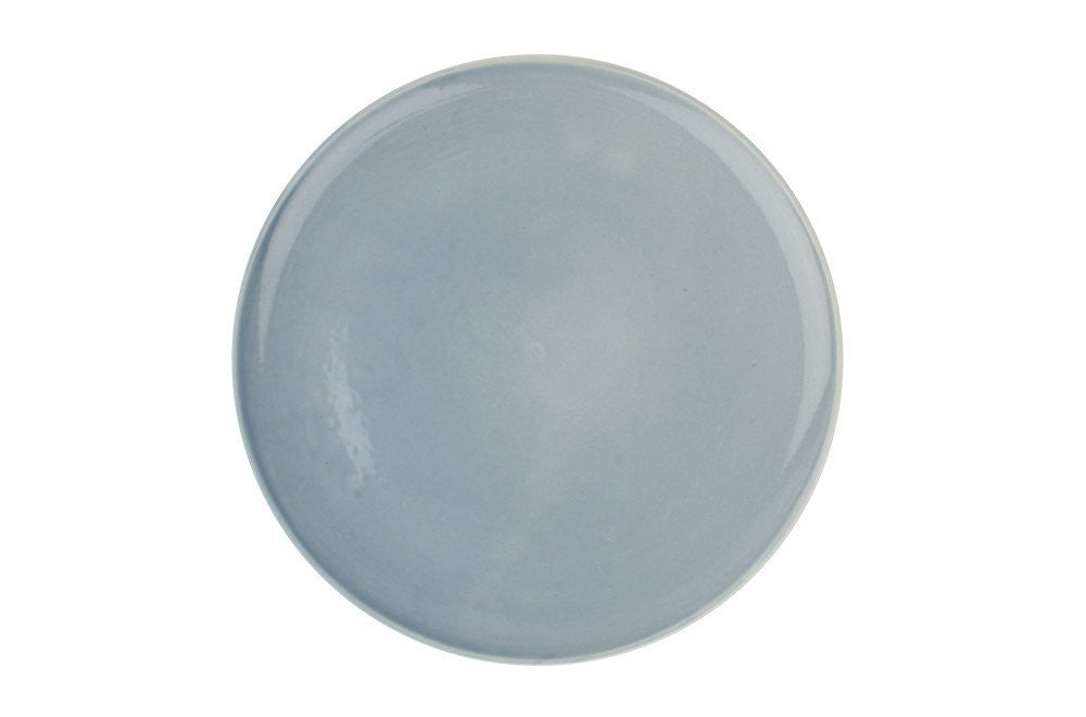 Shell Bisque Dinner Plate- Blue