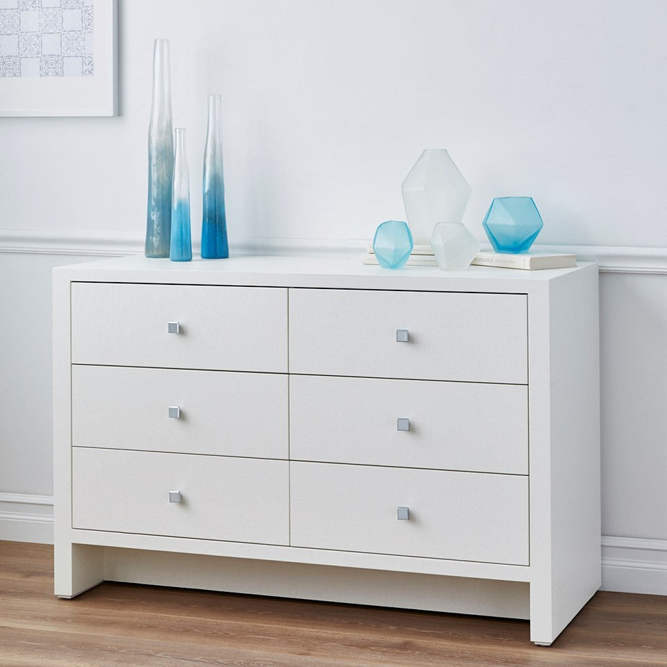 Morgan Grasscloth Extra Large 6-Drawer