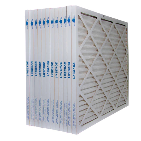 20x25x1 MERV 11 Standard Pleated Filters. Case of 12 Made in Canada by Furnace Filters.Ca