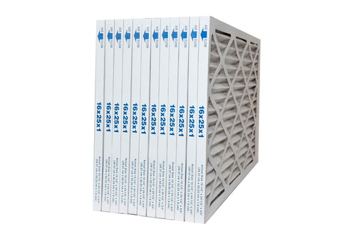 16x25x1 MERV 10 Pleated Furnace Air Filters. Case of 12 by FurnaceFilters.Ca