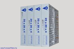 20x20x4 Furnace Air Filter MERV 8. Exact Size 19 3/8 x 19 3/8 x 3 5/8.  Case of 4 by FurnaceFilters.Ca