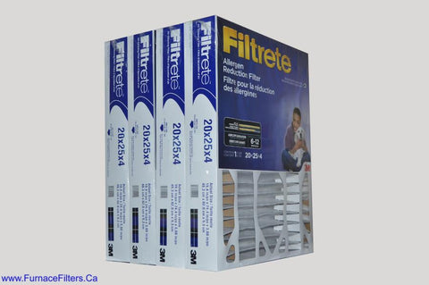 3M Filtrete 20 x 25 x 4 Filter. Case of 4.