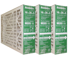 "RESERVEPro 16x25x5 GF #4511 / Mac 1400  MERV 10. Actual Size 15 5/8"" X 24 3/16"" X 4 15/16"". Package of 3"