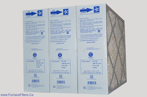"CARRIER 16x20 Old/Defective Electronic Air Cleaner to Filter Size 15 3/8"" x 21 7/8"" x 5 1/4"". Case of 3."