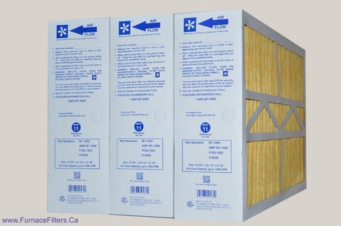 "YORK 16x25 Old/Defective Electronic Air Cleaner to Filter Size 15 3/8"" x 25 1/2"" x 5 1/4"". Case of 3."