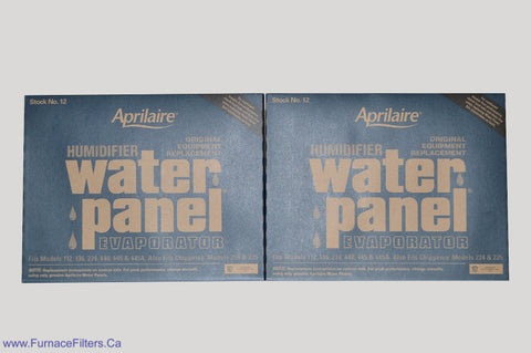 APRILAIRE Humidifier Part No. 12. For Models 112, 224, 440, 445A. Package of 2